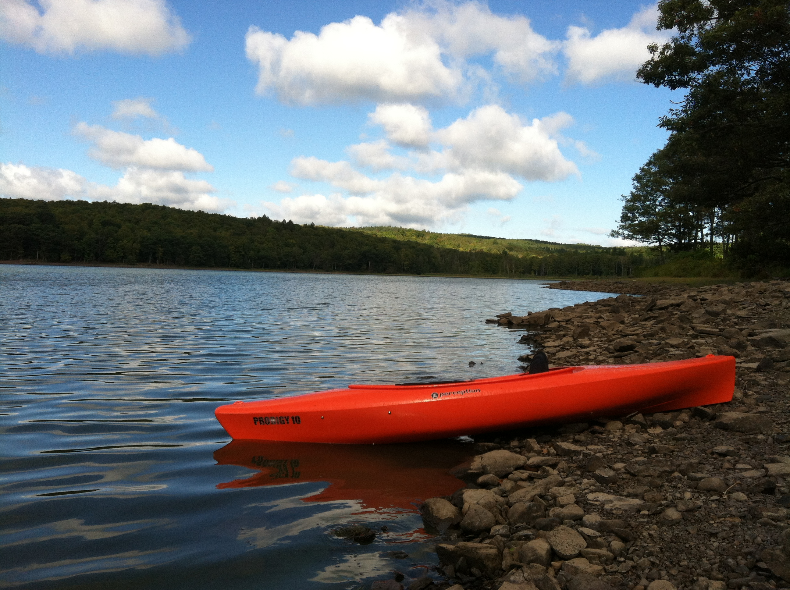 Lake with Kayak-2